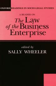 Cover of: A Reader on the law of the business enterprise |