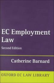 Cover of: EC employment law