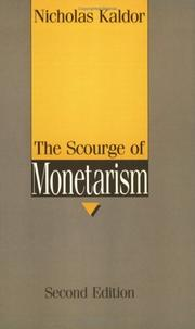 Cover of: The scourge of monetarism