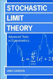 Cover of: Stochastic limit theory