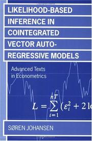Cover of: Likelihood-based inference in cointegrated vector autoregressive models