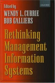 Cover of: Rethinking Management Information Systems |