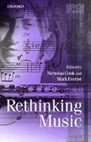 Cover of: Rethinking music