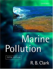 Cover of: Marine pollution