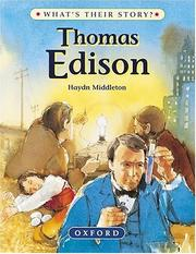 Cover of: Thomas Edison (What's Their Story?)