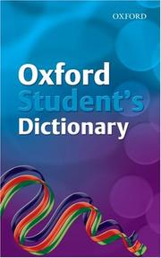 Cover of: Oxford Student's Dictionary | Robert Allen, Andrew Delahunty
