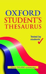 Cover of: Oxford Student's Thesaurus