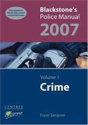 Cover of: Blackstone's Police Manual: Volume 1 | Fraser Sampson
