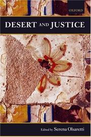 Cover of: Desert and Justice (Mind Association Occasional) | Serena Olsaretti