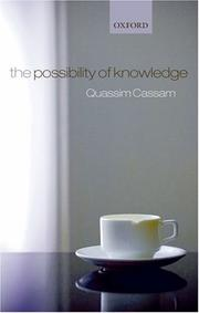 Cover of: The Possibility of Knowledge