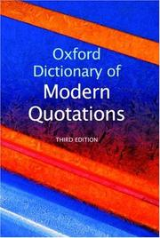 Cover of: Oxford Dictionary of Modern Quotations | Elizabeth Knowles