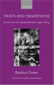 Cover of: Texts and Traditions | Beatrice Groves