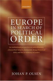 Europe in Search of Political Order
