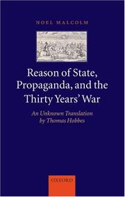 Cover of: Reason of State, Propaganda and the Thirty Years' War