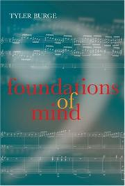 Cover of: Foundations of Mind (Philosophical Essays) | Tyler Burge