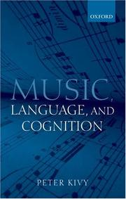 Cover of: Music, Language, and Cognition