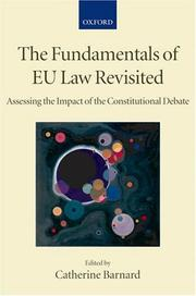 Cover of: The Fundamentals of EU Law Revisited