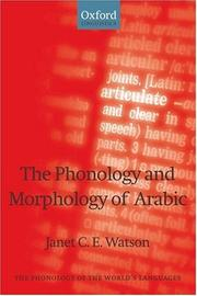 Cover of: The Phonology and Morphology of Arabic (The Phonology of the World's Languages)