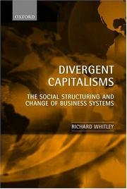 Cover of: Divergent Capitalisms | Richard Whitley