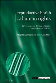 Cover of: Reproductive health and human rights