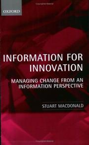 Cover of: Information for Innovation | Stuart Macdonald