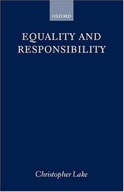 Cover of: Equality and Responsibility