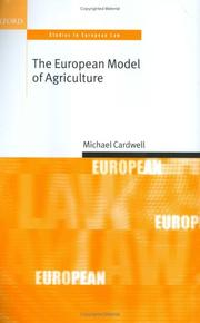 Cover of: The European model of agriculture