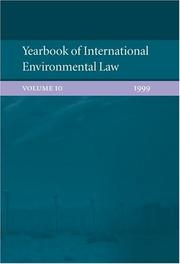 Cover of: Yearbook of International Environmental Law: Volume 10 |
