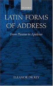 Cover of: Latin forms of address