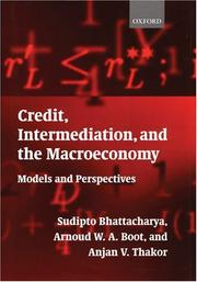 Cover of: Credit, intermediation, and the macroeconomy |