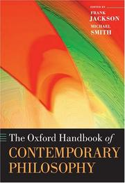 Cover of: The Oxford handbook of contemporary philosophy