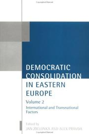 Cover of: Democratic consolidation in Eastern Europe |