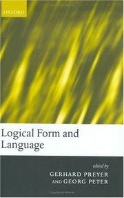 Cover of: Logical form and language