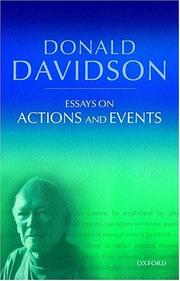 Cover of: Essays on actions and events