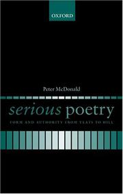Cover of: Serious poetry