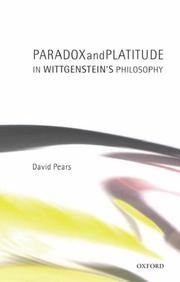 Cover of: Paradox and Platitude in Wittgenstein