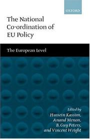 Cover of: The National Co-ordination of EU Policy |