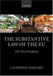 Cover of: The substantive law of the EU