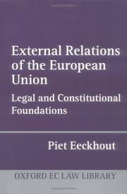 Cover of: External Relations of the European Union | Piet Eeckhout