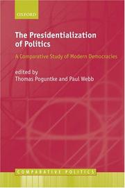 Cover of: The Presidentialization of Politics |