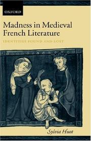 Cover of: Madness in medieval French literature