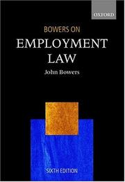 Cover of: Bowers on employment law