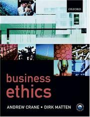 Cover of: Business Ethics: A European Perspective | Andrew Crane