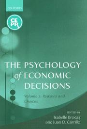 The Psychology of Economic Decisions: Volume II by