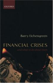 Cover of: Financial crises