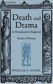 Cover of: Death and drama in Renaissance England