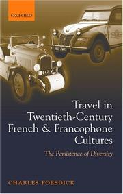 Cover of: Travel in twentieth-century French and Francophone cultures | Charles Forsdick