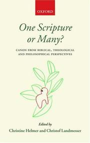 Cover of: One scripture or many?