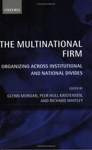 Cover of: The Multinational Firm |