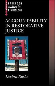 Cover of: Accountability in restorative justice | Declan Roche